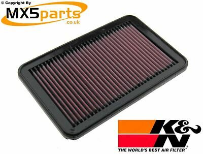 K&N 33-2676 High Flow Performance Air Filter Panel Mazda MX5 Mk2 2.5 NB 1.6 1.8