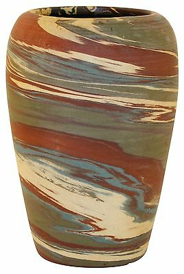 Niloak Pottery Mission Swirl Green and Brown Vase