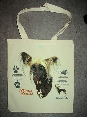 Chinese Crested History Design Print Tote Shopping Bag