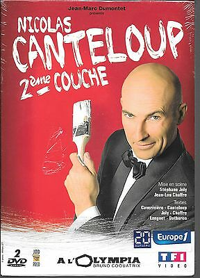 2 DVD ZONE 2--SPECTACLE--NICOLAS CANTELOUP--2eme COUCHE A L'OLYMPIA--NEUF