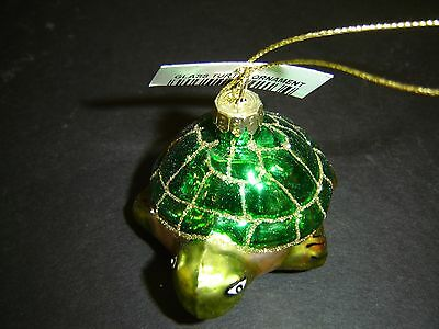 Green Turtle Christmas Ornament