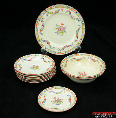 Lot of 11 SOL J & G Meakin Richmond China Set Reg 391413 Saucers Bowls Plates