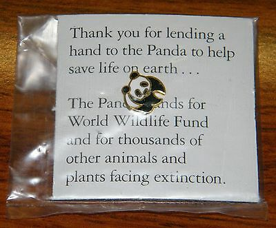 Panda World Wildlife Fund Save A Life (Panda Pin / Hat Pin / Lapel / Brooch)