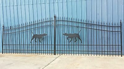 Custom Built Driveway Entry Gate 18 Foot Wide Dual Swing Commercial  Residential