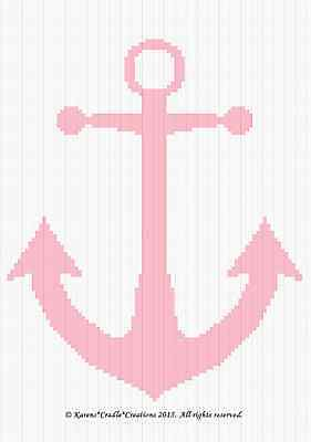 Crochet Patterns - ANCHOR Baby GIRL NAUTICAL Graph/Chart Afghan Pattern *EASY*
