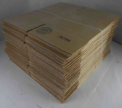 "Bundle of 25 New Cardboard Shipping Boxes 7"" x 7"" x 8"" #673"