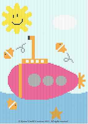 Crochet Patterns - SUBMARINE Baby GIRL Afghan Pattern *Beginner*