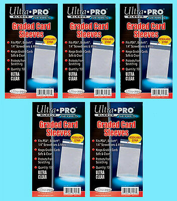 """500 ULTRA PRO GRADED RESEALABLE CARD Sleeves PSA Beckett Clear Poly Slab 1/4"""""""
