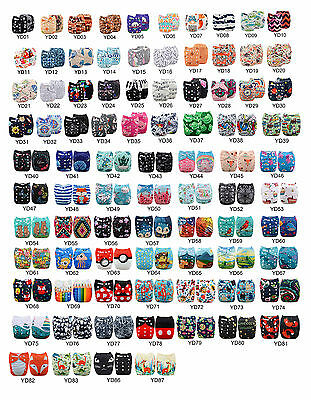 U PICK ALVABABY Cloth Diapers Reusable Washable Pocket Nappies+ MF Inserts Lot
