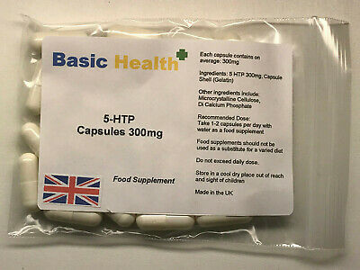 5-HTP x 30 300mg Appetite Hunger Suppressant Anxiety Insomnia Weight Loss Diet