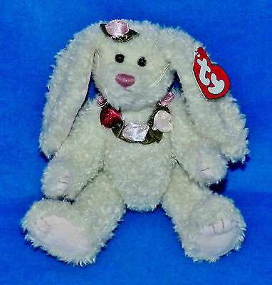 "Ty ROSALYNE White Bunny Easter (Jointed 8"") Attic Treasure 2000 Boy Girls 3+MWMT"