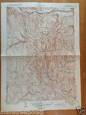 1943 ASHFIELD MA VINTAGE TOPOGRAPHICAL MAP Buckland Charlemont HAWLEY MASS USGS
