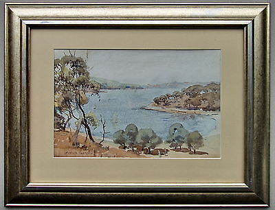 (Artist) Carlyle Jackson (Titled) Sydney Foreshore (Medium) Watercolour, Framed.