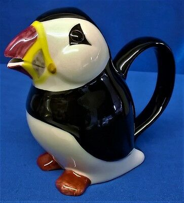 Quail Ceramic 4 Fluid Ounce Puffin Jug Seabirds Sea Bird - Animal Figure Model