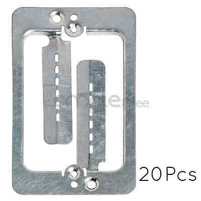 Single Gang Low Voltage Wall Plate Steel Drywall Mounting Bracket Lot of 20 NEW