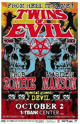 Rob Zombie Marilyn Manson Broomfield 2012 Concert Poster