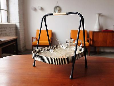 TRUE VINTAGE Tablett SERVIERTABLETT 60er Rockabilly Serving tray table 60´s