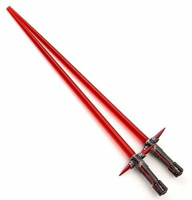 Star Wars FORCE AWAKENS Lightsaber KYLO REN CHOPSTICKS - Pair of Red Chopsticks