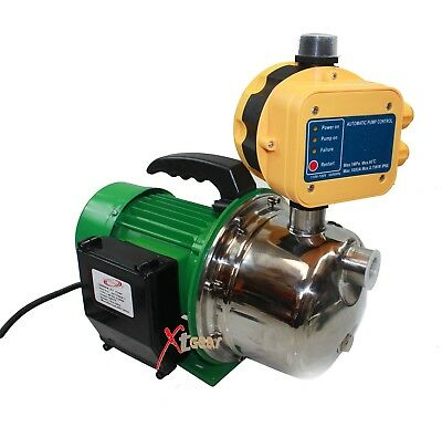 New 1.5HP Stainless Jet Booster Water Pressure Pump w/Automatic On/Off Control