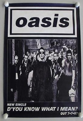 Oasis D'you Know What I Mean 1997 Original Promo Poster