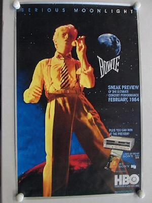 David Bowie Serious Moonlight 1983 Movie Promo Poster Concert Original