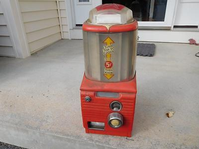 1950's Antique Counter Top Coin Candy/nut Vending Machine-As Is- Free Ship,old