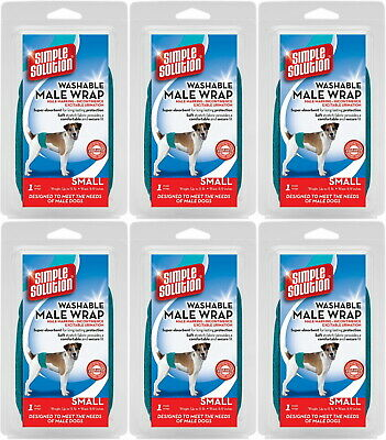 Simple Solution Male Wrap for Dogs, Washable, Small, 6 Pack