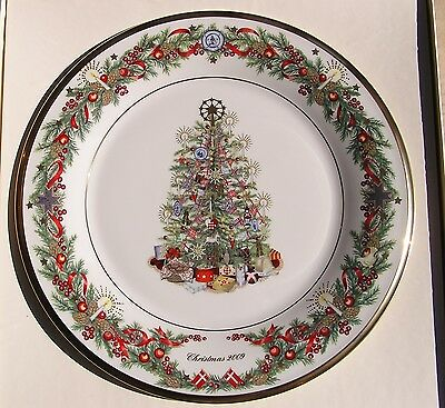 LENOX 2009 TREES AROUND THE WORLD PLATE Denmark NEW in Ivory BOX 1st Quality USA