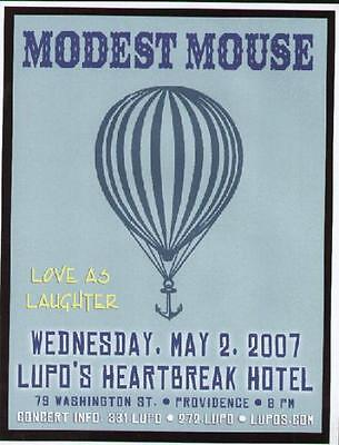 Modest Mouse Concert Flyer Providence Lupos 2007