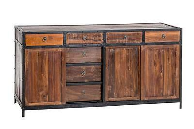 java metall trifft teak sideboard kommode tv schrank hifi. Black Bedroom Furniture Sets. Home Design Ideas