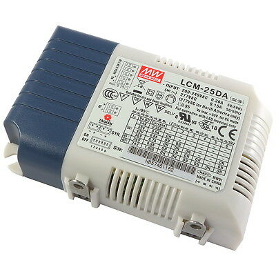 MEANWELL LCM-25DA LED-Schaltnetzteil 25W Selectable Output Current DALI 856317