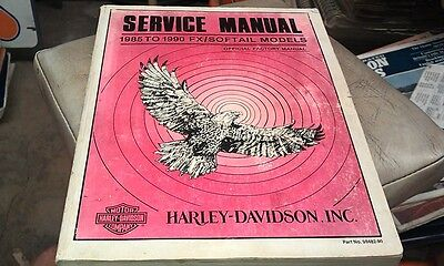 1985 1986 1987 1988 1989 1990 HARLEY DAVIDSON  Factory  Workshop Manual