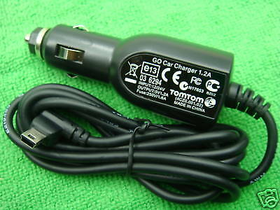 Original Tomtom GPS GO XXL 530 535 540 550 XL/ONE car charger Power Cord cable
