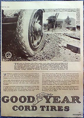 1920 Goodyear Tire JF Powers George Hankins & George Excavating Contractors ad