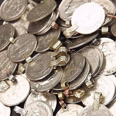 80 real COINS Tribal Belly Dance Kuchi LARGE ((polished))