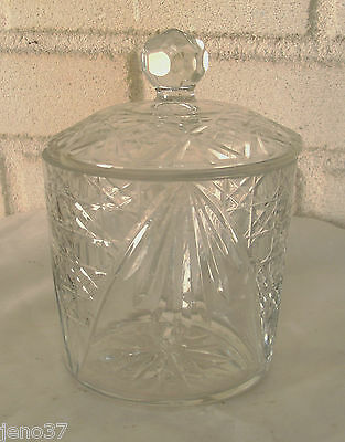 Elegant Vintage Covered Glass Jar  Great for Candy, Crackers, Holiday Treats