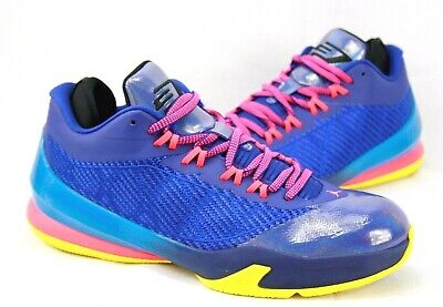12464fd739cc JORDAN CP3 VIII Basketball Shoes Boys Size 7 Blue Orange Chris Paul ...