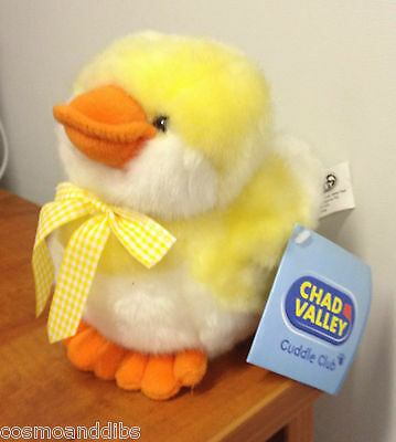 Cute Cuddle Club Fluffy Chick With Sound Soft Toy -Chad Valley