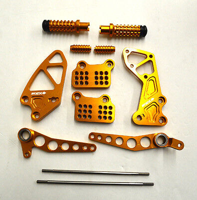 Nex Rearset Foot Pegs Shifter For 2001-2005 Suzuki Gsxr600/750 Anodized Gold