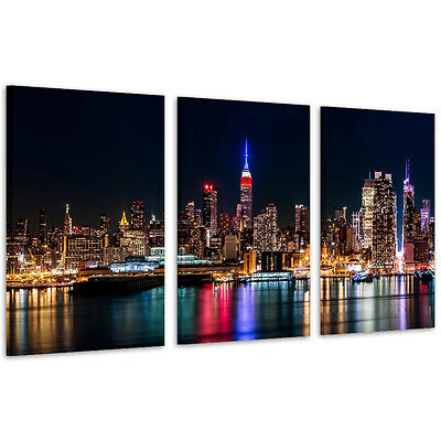 """""""New York Port"""" Canvas Wall Art Unframed Canvas Print Home Decor Picture"""