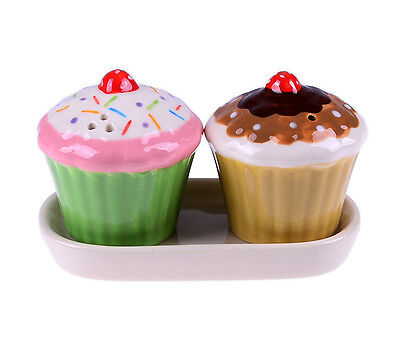 Strawberry CUPCAKE Salt & Pepper Set / Salz-und Pefferstreuer Rockabilly