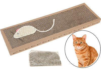 Cat Kitten Scratch Play Corrugated Bed Card Board Scratcher Pad Toy Mat Claws