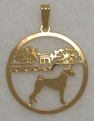 Basenji Jewelry Gold Pendant by Touchstone Dog Designs