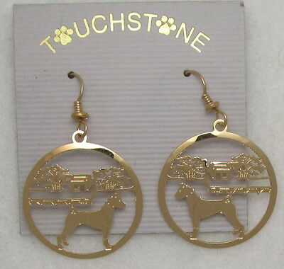 Basenji Jewelry Gold Earrings by Touchstone Dog Designs
