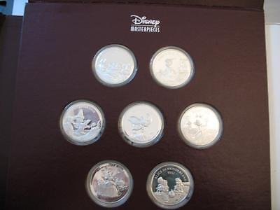 7-1 Oz.999 Silver Disney's  Masterpieces Proofset 1993 Volume 1 Book 118 Pages