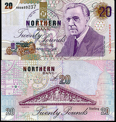 Northern Bank Ltd Belfast £20 pound banknote 1997 1999 real currency money