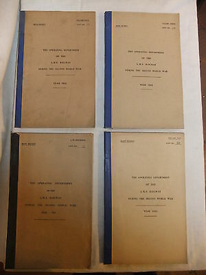 Railway Operating Department of LMS during WWII 1939-45 MOST SECRET 4 volumes
