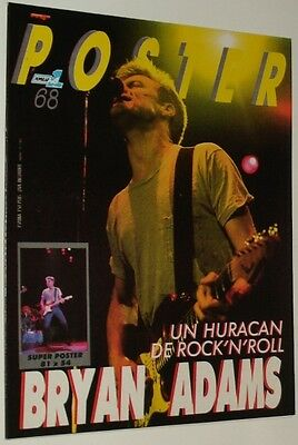 POPULAR 1 ESPECIAL POSTER # 68/ BRYAN ADAMS Rare spanish vintage POSTER MAGAZINE