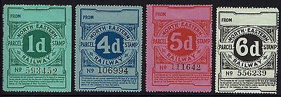 1D 4D 5D 6D North Eastern Railway Night Express Parcel Stamps From Box Blank