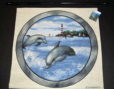 Dancing Dolphins Tapestry Wall Hanging